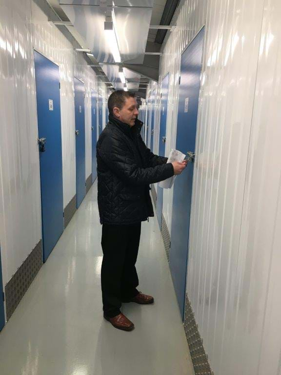A Day In The Life Of A Storage King Manager - Simon Elworthy checking self storage units
